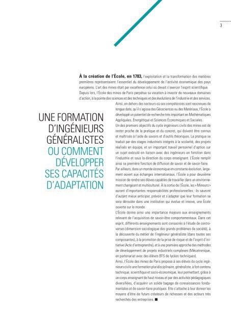 CYCLE INGÉNIEURS CIVILS 2012 4 2013 - MINES ParisTech