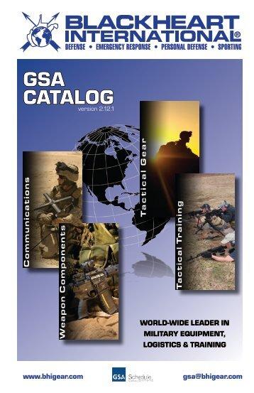 GSA CATALOG - Corporate - Blackheart International