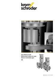 Gas-Motorventil Motorised valves for gas Vanne ... - Gasotec