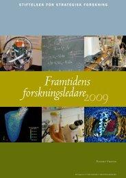 Framtidens forskningsledare 2009 - Stiftelsen för Strategisk Forskning