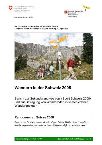 Wandern in der Schweiz 2008 - sportobs.ch