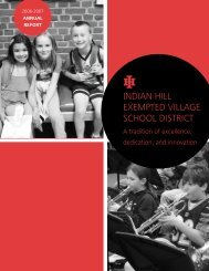 Students - Indian Hill School District