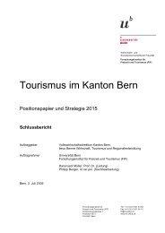 Tourismus im Kanton Bern - Forschungsinstitut für Freizeit und ...