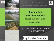 Floods - their definition, causes and consequences