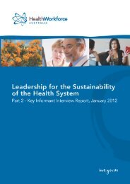 Leadership for the Sustainability of the Health System: Part 2 - Key ...
