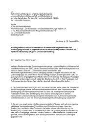 Stellungnahme Acquin - ZHW - Universität Hamburg