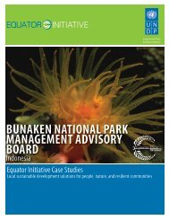 Bunaken National Park Management Advisory Board - UNDP