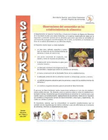 Boletín Educativo Vol. 7 Núm.2 Julio 2007 - Departamento de Salud