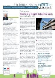 Lettre Externe de la DRIHL No3 - DRIHL Ile-de-France