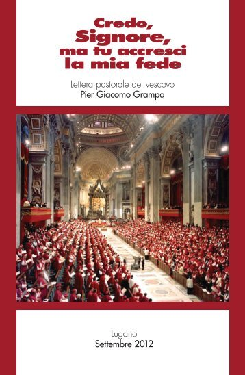 Credo, Signore, ma tu accresci la mia fede - Chiesa Cattolica in ...