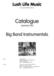 Lush Life Music - Big Band Instrumental Arrangements Catalogue as ...
