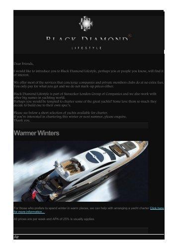 Yacht Charters & More - Black Diamond Lifestyle