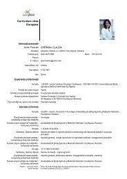 CV Claudia Gherman - USAMV Cluj-Napoca