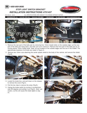 Installation Instructions - American RV Company