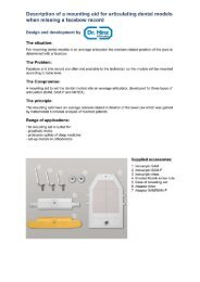Description of a mounting aid for articulating dental models ... - dr. hinz