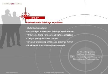 Professionelle Briefings schreiben - Marketing Beratung & Marketing ...