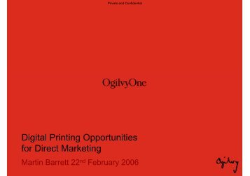 Digital Printing Opportunities for Direct Marketing