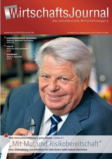 Ausgabe 09/2013 - Wirtschaftsjournal