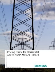 Pricing Guide for Horizontal Above NEMA Motors - Siemens Industry ...