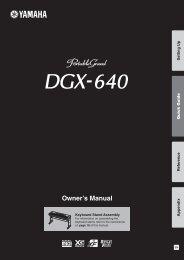 DGX-640 Owner's Manual - zZounds.com