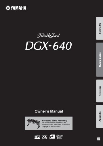 DGX-640 Owner's Manual - zZounds.com