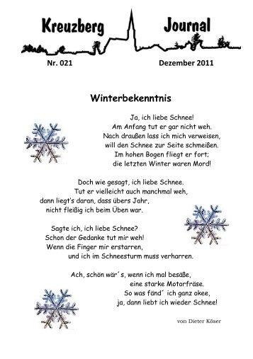 Winterbekenntnis - Kreuzberg im Bergischen Land