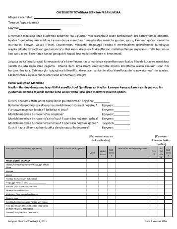 Move in/out Inspection Checklist - Columbia Legal Services