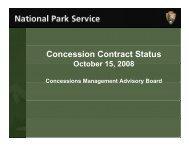Concession Contract Status - National Park Service Concessions ...