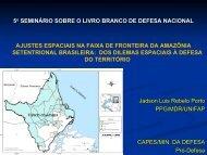 5o SEMINÁRIO SOBRE O LIVRO BRANCO DE DEFESA NACIONAL