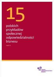 polskich przykładów społecznej odpowiedzialności biznesu - Forum ...