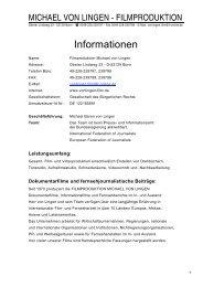 Auftraggeber Titel / Informationen - Michael von Lingen Filmproduktion