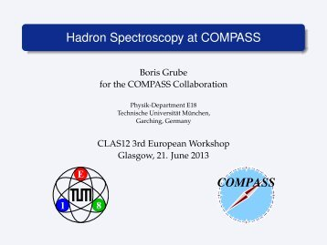 Hadron Spectroscopy at COMPASS - & COMPASS - Nuclear Physics