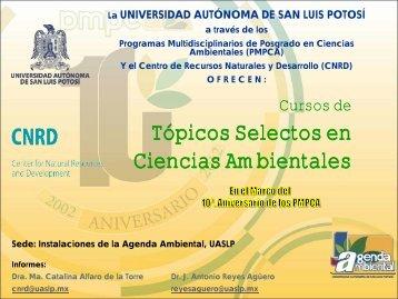Tópicos selectos en ciencias ambientales (Varios ... - eVirtual UASLP