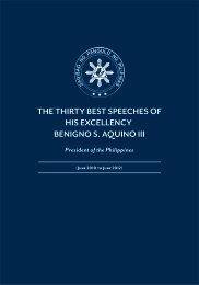 the thirty best speeches of his excellency benigno s. aquino iii
