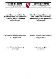Regolamento per il rimborso delle spese sostenute dagli