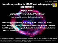 Novel x-ray optics for CAST and for astrophysics applications