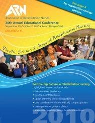 Conference Brochure (pdf) - Association of Rehabilitation Nurses