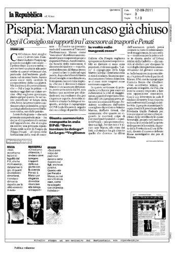 pag. 3- Pisapia: Maran un caso già chiuso - Chiesa di Milano