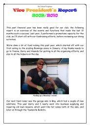 Vice President's Report - North Queensland Underwater Explorers ...