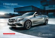 Download Preisliste neues E-Klasse Cabriolet ... - Mercedes-Benz