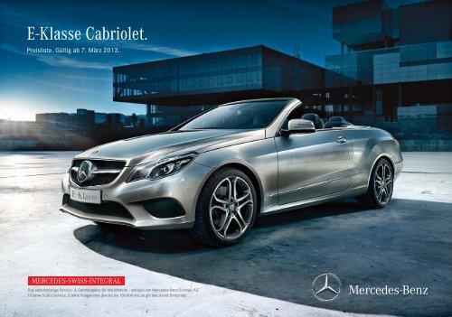 Download Preisliste neues E-Klasse Cabriolet ... - Mercedes-Benz