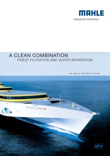 a clean combination - MAHLE Industry - Filtration