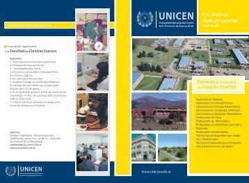 ciencias exactas - Universidad Nacional del Centro de la Provincia ...