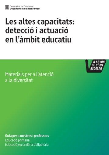 Guia de detecció i atenció als alumnes amb altes capacitats - Ara