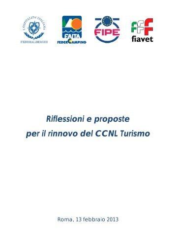 Riflessioni e proposte per il rinnovo del CCNL Turismo - Federalberghi
