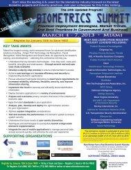 The Winter Biometrics Summit - March 4-7, 2013 - Advanced ...