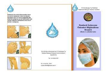 Damlacık İzolasyonu Önlemleri Bilgilendirme Broşürü (Hasta ve ...