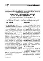 Doporučení pro diagnostiku a léčbu plicní arteriální hypertenze v ČR