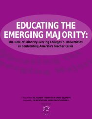 educating the emerging majority - Institute for Higher Education ...