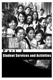 Part 3: Services and Activities - De La Salle Health Sciences Institute
